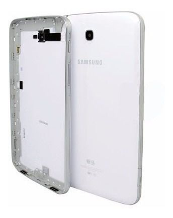 Tampa Traseira Carcaça Aro Tablet Samsung 7 Pol. Sm T210 Branca Original