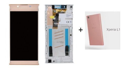 Frontal Lcd Touch Sony Xperia L1 G3311 G3312 + Tampa Traseira Original Rose