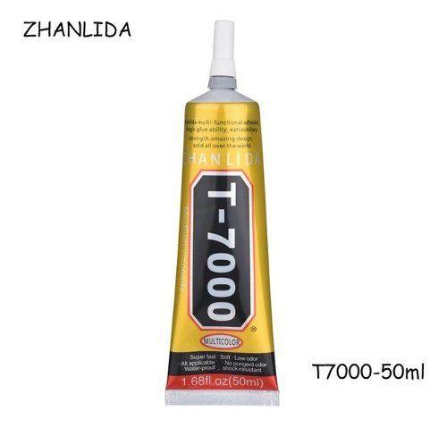 Cola B7000 Incolor / T7000 Negra 50ml Preta Para Celular Vidro Touch Bijuteria Artesanato Strass Original Zhanlida® 50ml