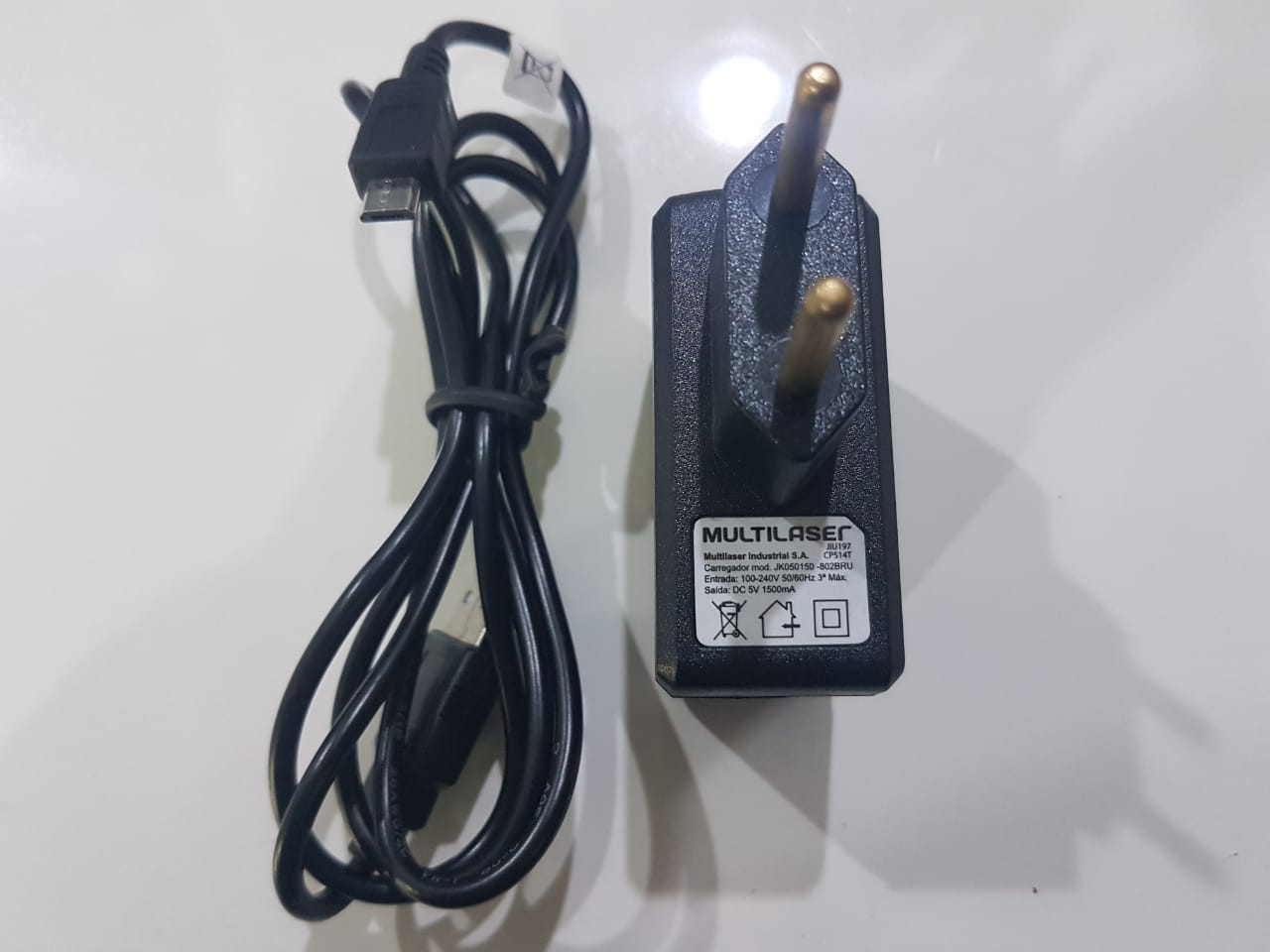 2 Carregadores Celulares e Tablets  Multilaser M10a M9 M8 M7s Micro Usb Original 1500Mah Bivolt