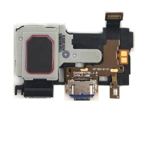 Flex Conector de Carga Campainha Microfone Lg Q7 Q710 Q Note+ Stylus