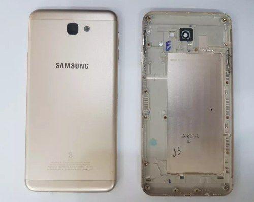Carcaca Aro Tampa Dourada Samsung J7 Prime G610 Original Retirada