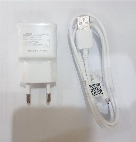 Carregador E Cabo USB Samsung Branco Ep-ta10bwb 5.3V 2000Mah 100% Original