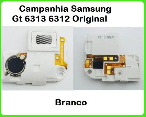 Campainha Samsung Galaxy Young Duos Tv Gt S6313 S6312 Branco