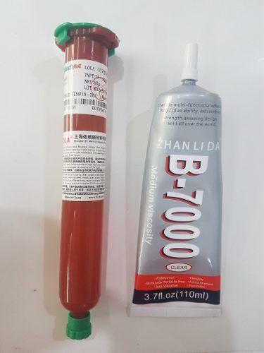 Kit Dupla Face 3m + Cola Uv  50 Grs + 4 Grampos + Cola Líquida B7000 110ml