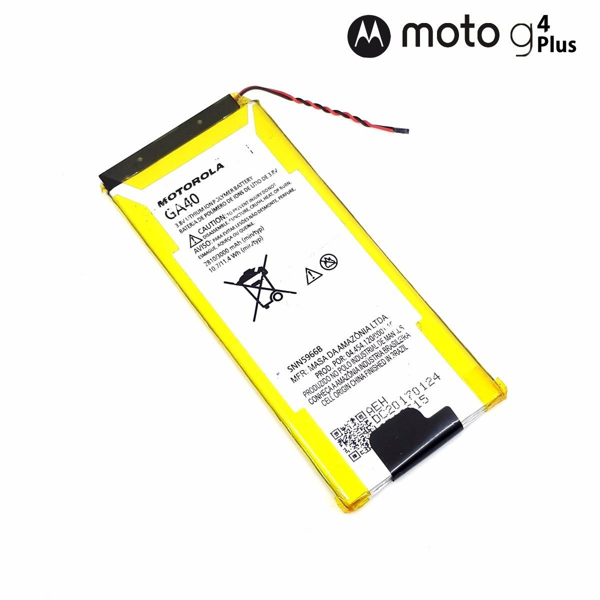Bateria Motorola GA40 Original Moto G4 Xt1626 Xt1622 / Moto G4 Plus Xt1640  Retirada