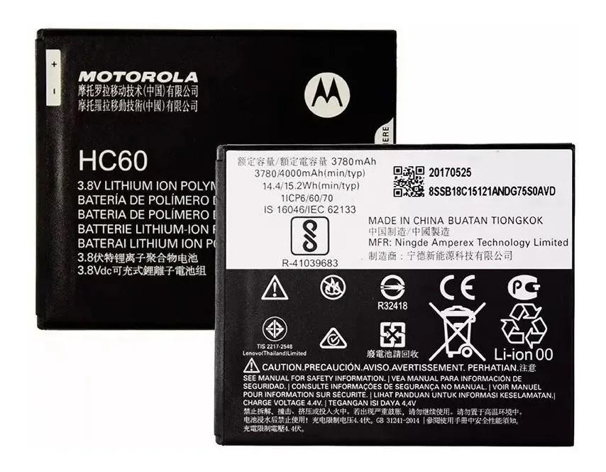 Bateria Motorola HC60 Moto C Plus Xt1726 Xt1723 Original 4000mah
