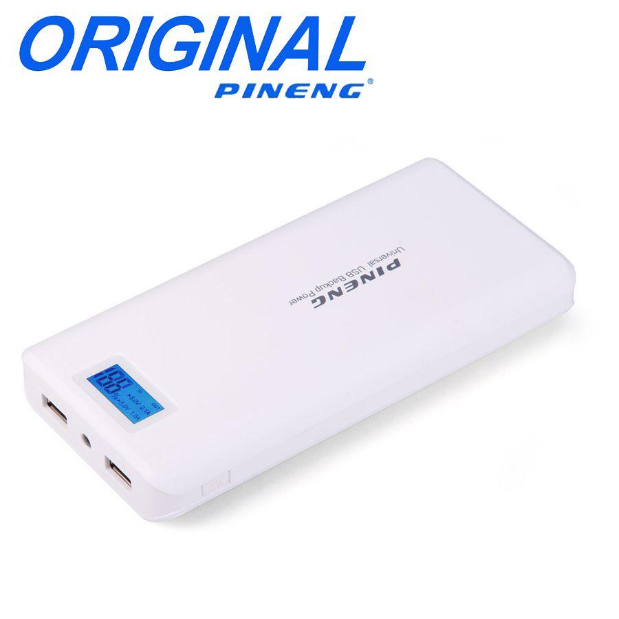 Bateria Portátil Power Bank Pineng Original 20000 MAh PN-999 Original com saída Dupla Usb e Visor