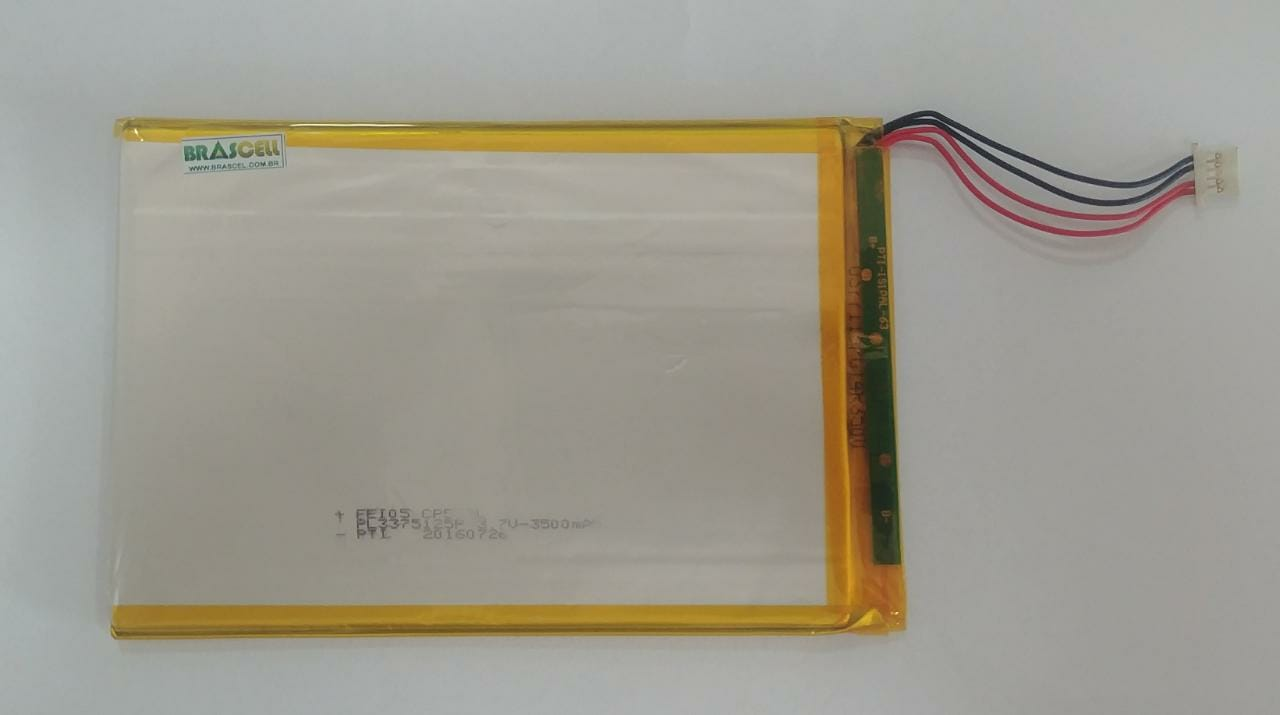 "Baterial Retirada Tablet Multilaser M9 3G 9"" Quad core 77mmx118mm"