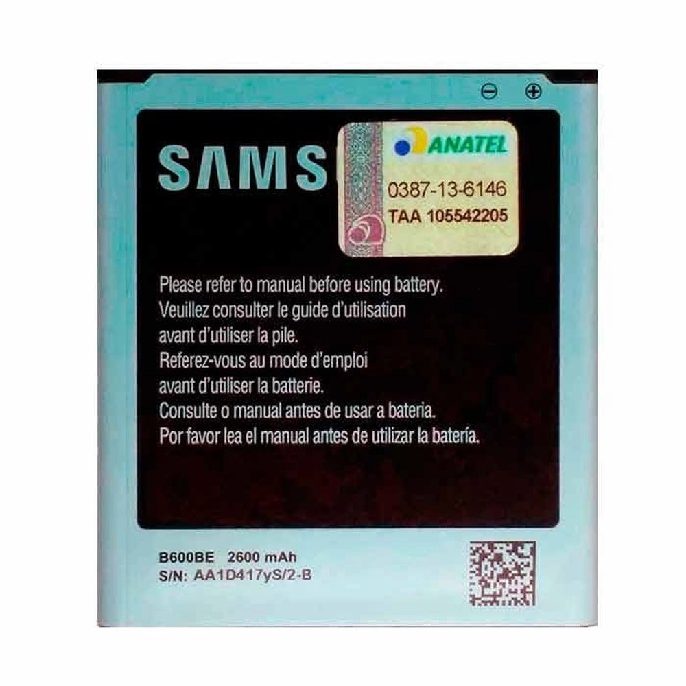 Bateria Samsung B600BE Galaxy S4 I9500 I9505 I9515 2600mah Original