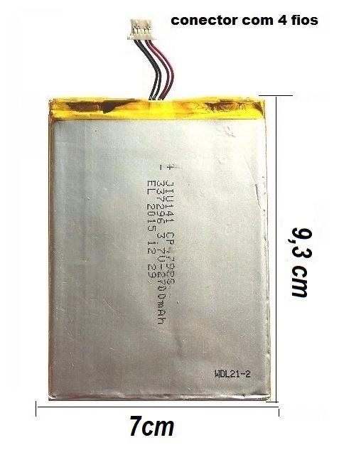 Bateria Tablet Multilaser M7 3G Plus Original 9,3 x 7cm 2800mah