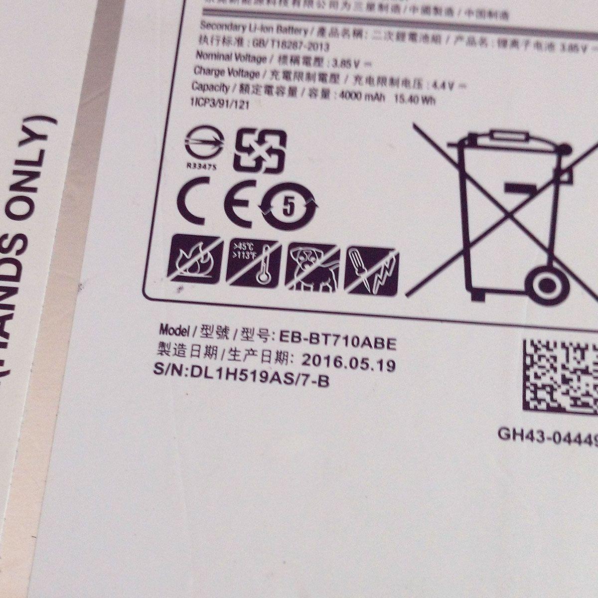 Bateria Tablet Samsung EB-BT710ABE  Sm T710 T715 T719  4000Mah Original