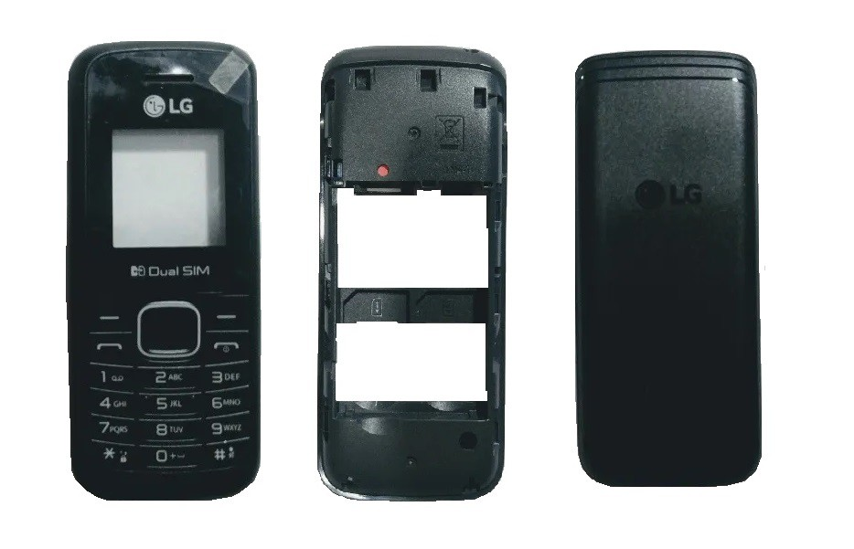 Carcaça sem teclado Celular Lg B220 com tampa e visor original