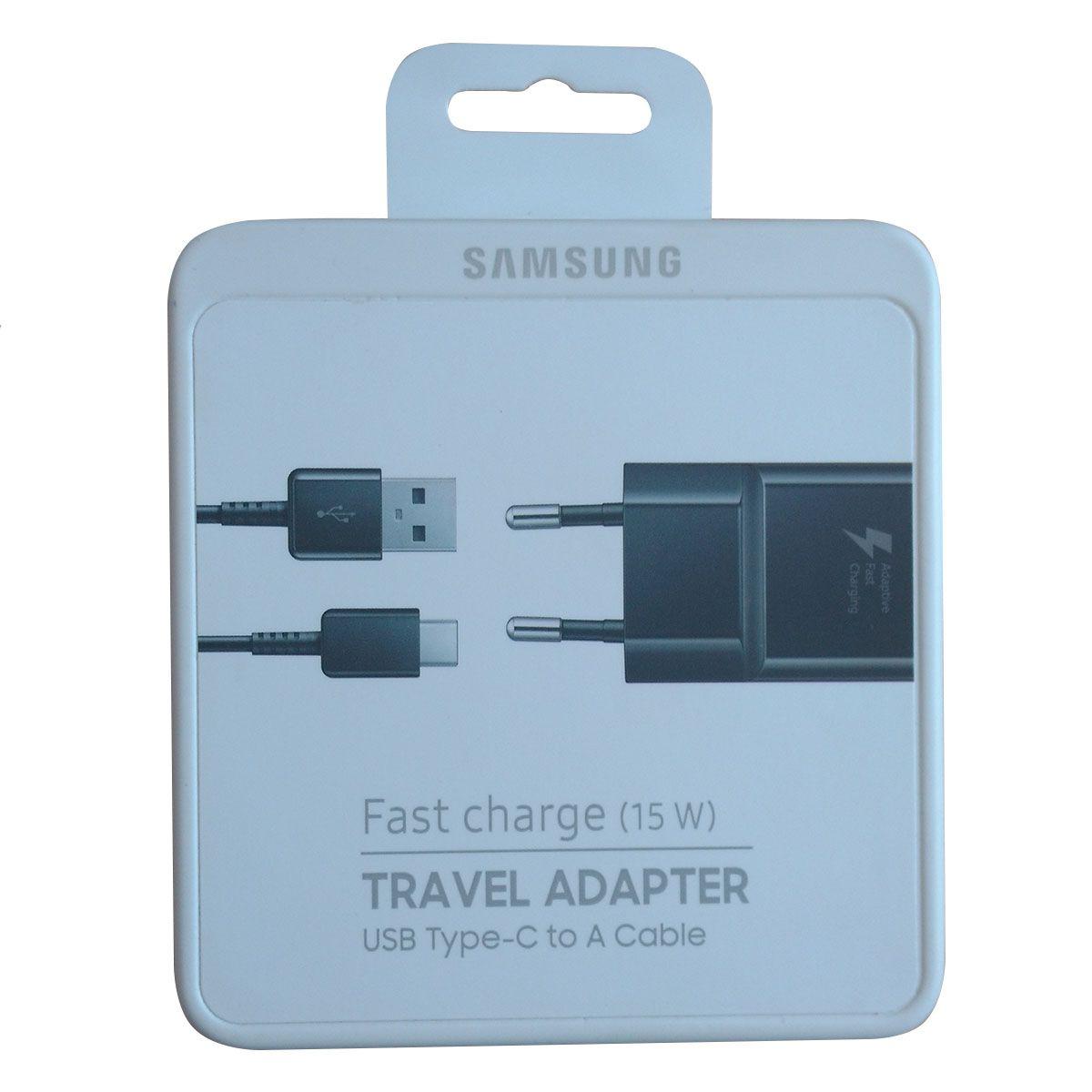 Carregador Fast Turbo Samsung S9 , S9 Plus EP TA300 100% Original + Cabo Usb Tipo C Preto