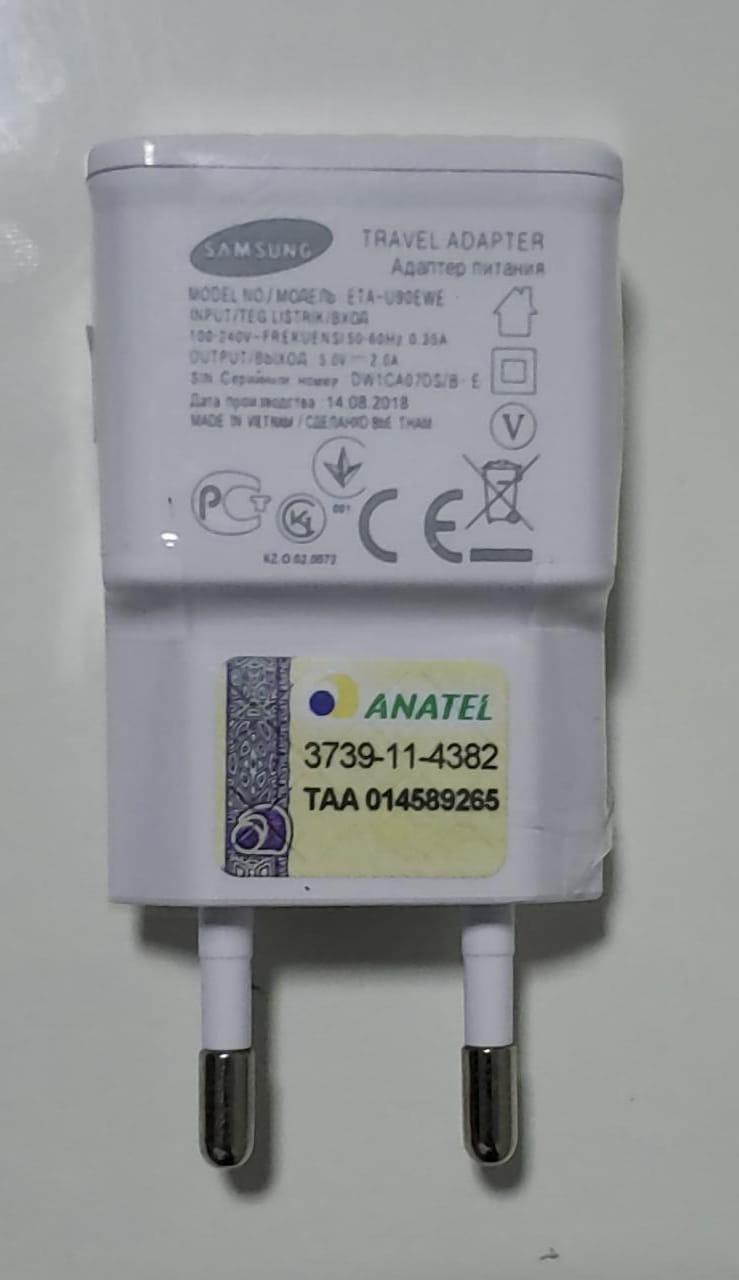 Carregador Samsung S3 i9300 S4 i9500 Original 2A  ETA-U90EWE  + Cabo Usb Branco 1 Metro