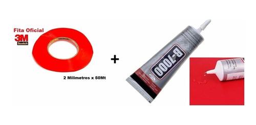 Cola Celular B7000 Original 110ml + Dupla Face 3m Rolo 2mm