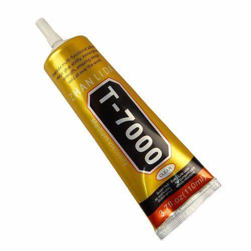 Cola T7000 Negra 110ml Preta Para Celular Vidro Touch Bijuteria Artesanato Strass Original Zhanlida®