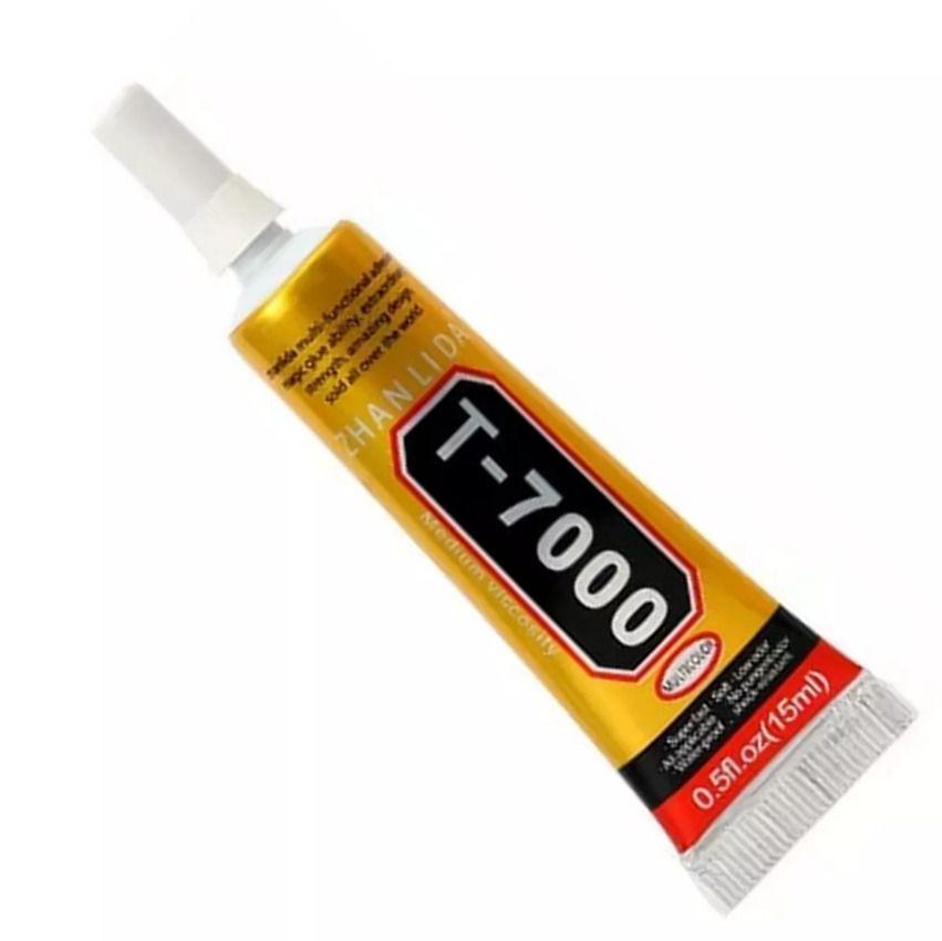 Cola T7000 preta Tubo 15ML Multiuso, Strass, Vidro Touch Bijuterias
