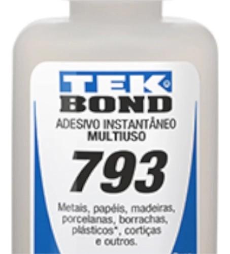 Cola Tek Bond 793 Instantânea Multiuso 20 Gramas