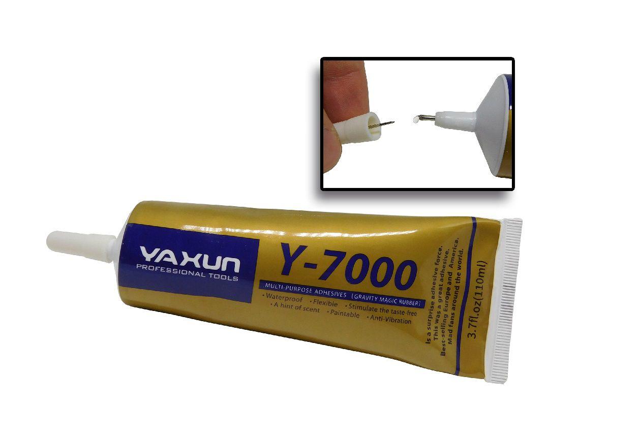 Cola Y7000 1110ml Yaxun Multiuso , Celular, Vidro , Touch, telas artesanatos, bijuterias em geral com bico aplicador