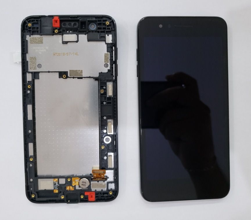 Frontal Display Lcd Touch Screen LG K9 Tv X210 K8 2018 Original Preto com Aro.