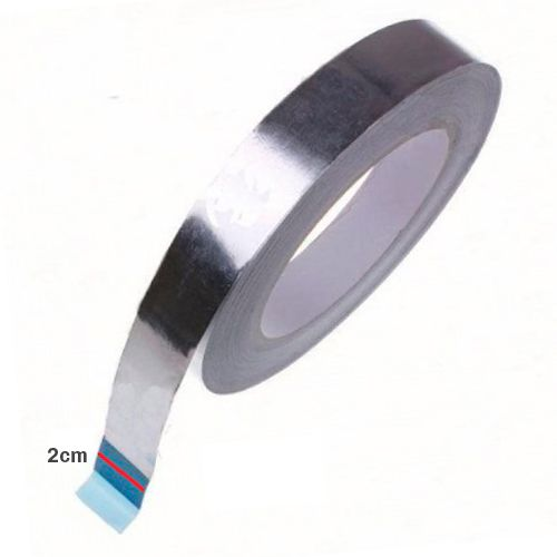 Fita Alumínio Adesivo térmico Isolante  20mm x 50 metros  Rolo  - Excelente Qualidade