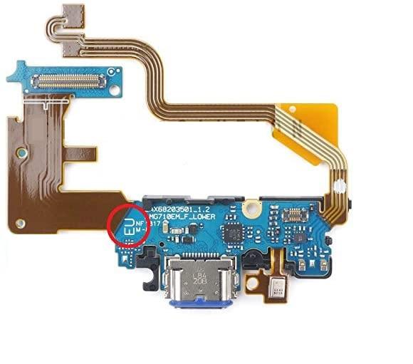 Flex Carga Usb LG G7 Thinq G710 Placa Dock Microfone Com Ci