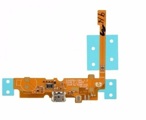 Flex Conector Carga Microfone Celular Lg L70 D320 D321 Original