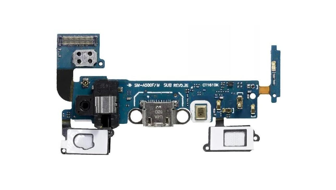 Flex Placa Conector de Carga Samsung A5 Sm A500 Áudio Jack P2 e microfone