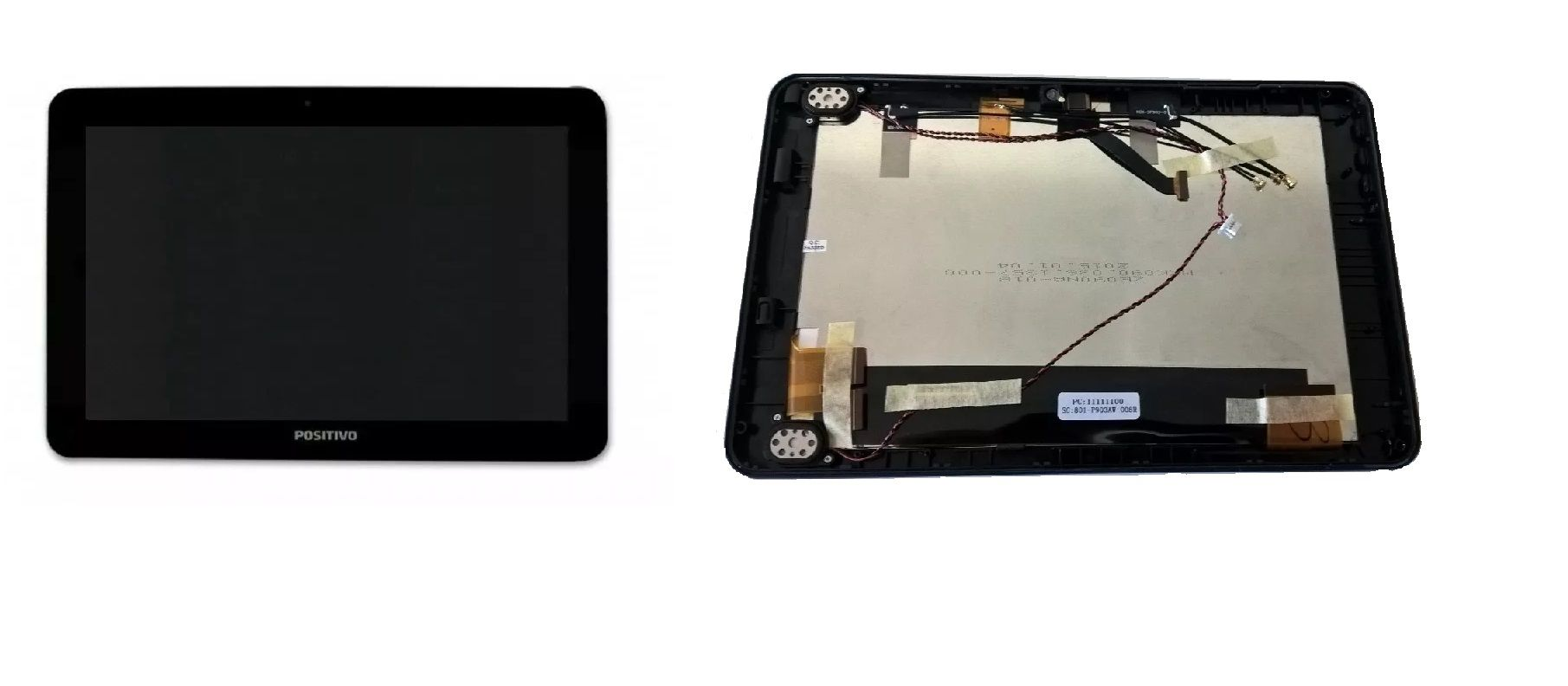 Frontal Lcd Display com Touch Screen e Aro Tablet Positivo Ypy 10 polegadas Ab10h