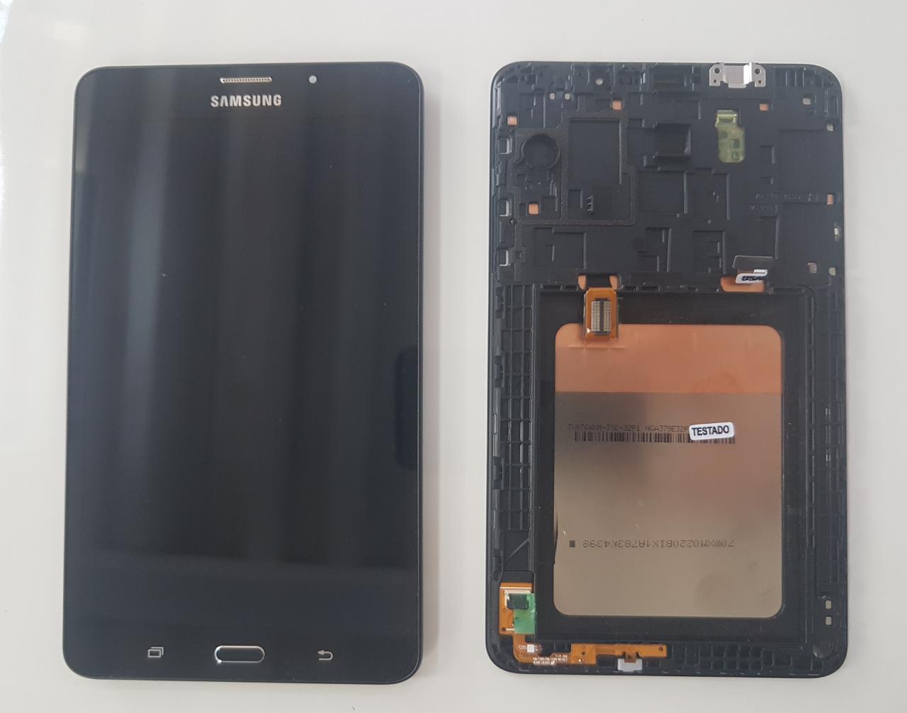 Frontal Lcd Touch Samsung Tab Sm T285  4G Tela 7 Polegadas  Original com moldura