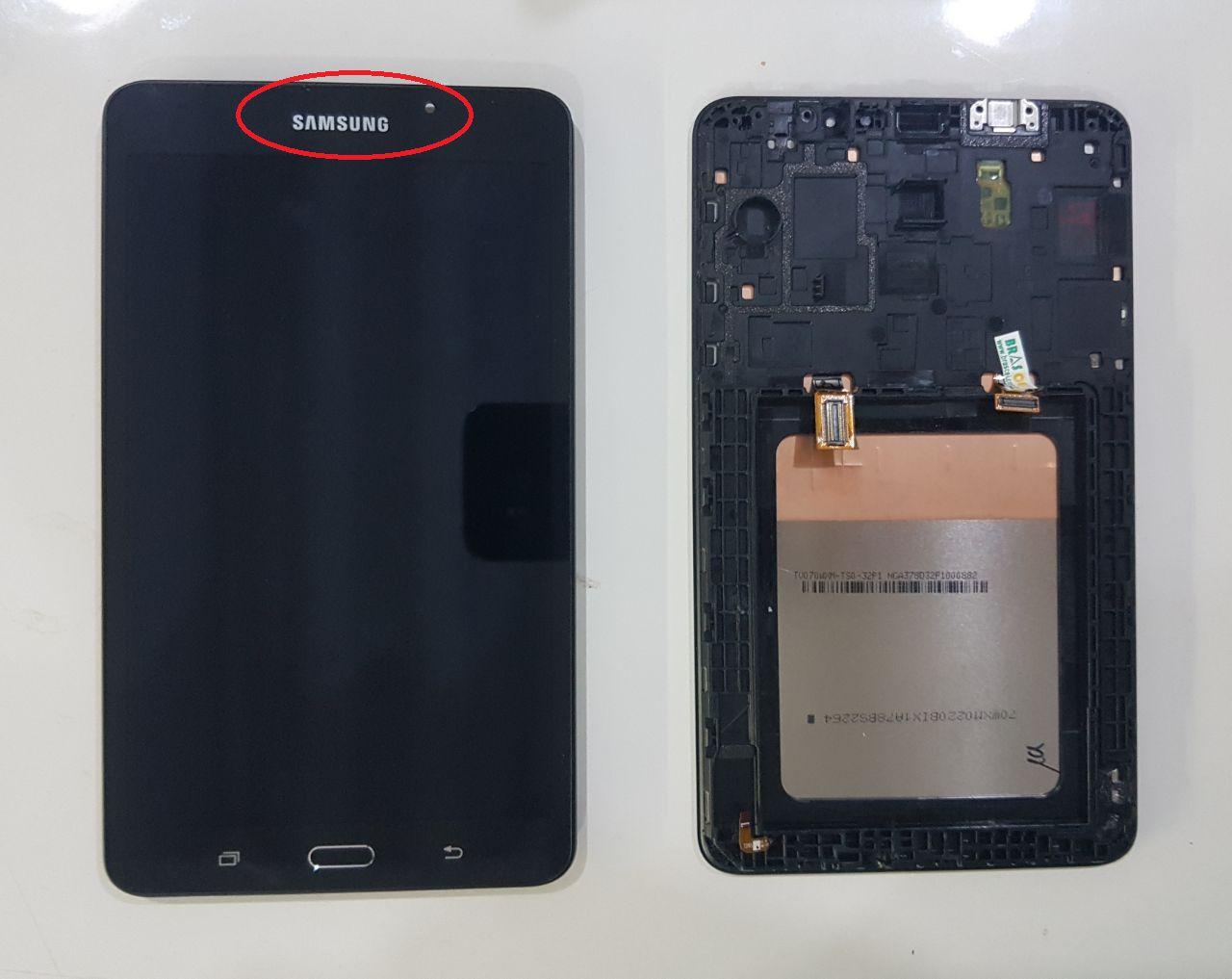 Frontal Lcd Touch Tab A Samsung  7 Polegadas Sm T280 com moldura Original