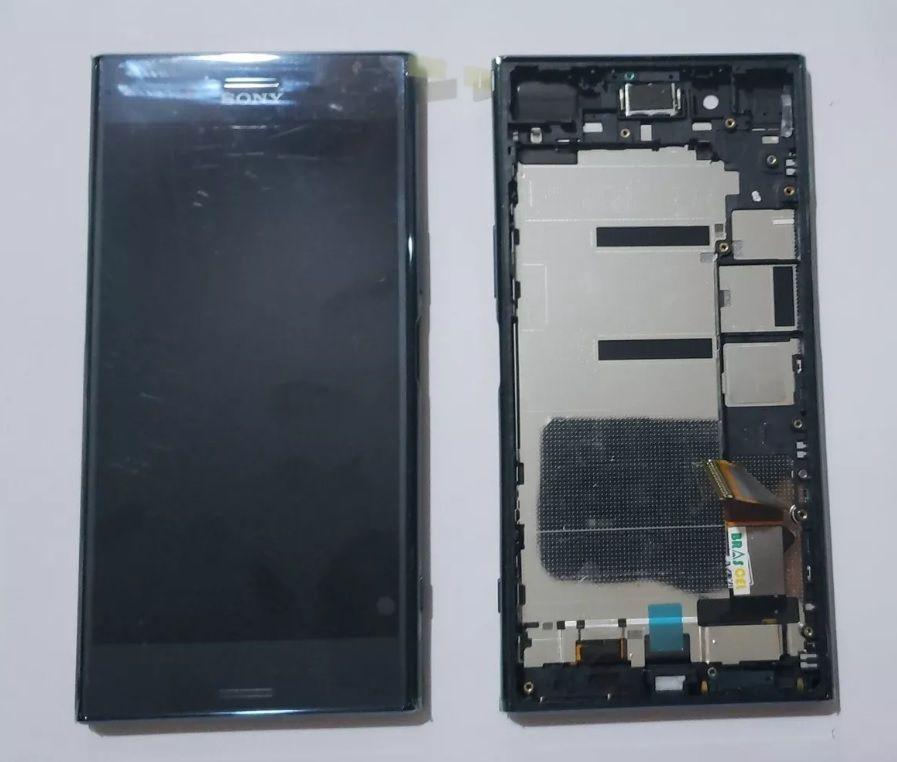 Frontal Lcd Touch Xperia Xz Premium G8141 G8142 Original com Aro Preto Espelhado