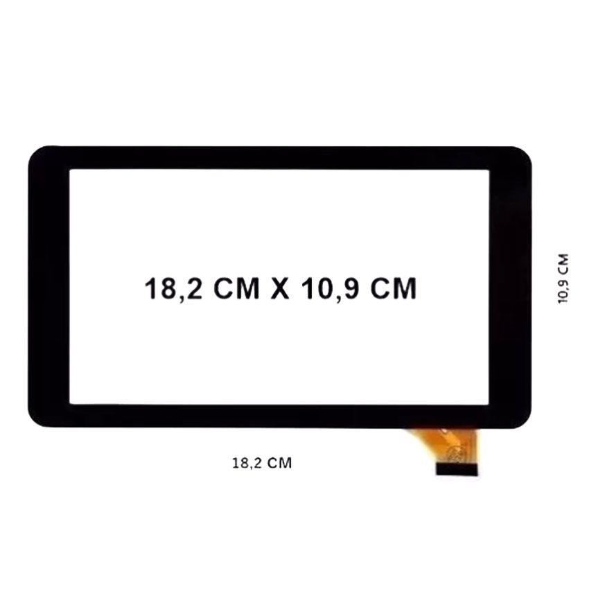 Frontal Touch Screen Tela Visor Tablet How Max Quad A0011-c A0011c 7' Pol