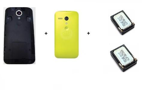 Gabinete Traseiro Motorola Moto G2 Xt1068 Xt1069 + 2 Campainhas Speaker + Tampa