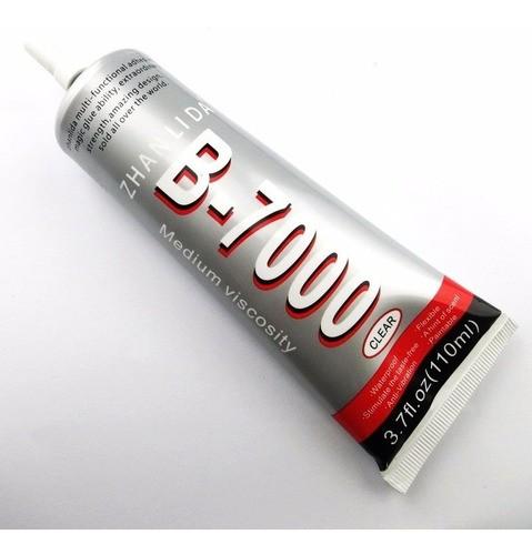 Kit 6x1 Com 2 Colas B7000 110ml Incolor + 2 Duplas Face Preta + 2 Dupla Face Incolor 5mm
