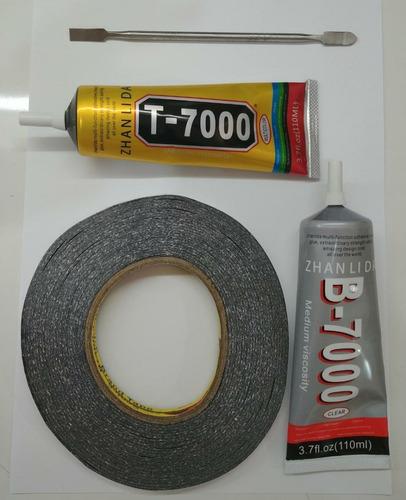 Kit Cola B7000 110ml T7000 110ml Fita Pret 5mm Espatula Aço