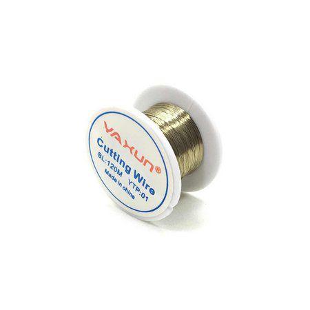 Kit Fio De Aço Celular 8mm x 100 mts para remoção de vidro lcd + Spray removedor de Cola 100ml