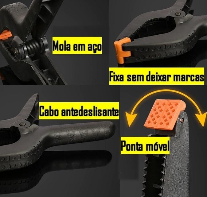 Kit Fita Dupla Face 3mm 50mt + 4 Grampos de fixar telas Multiuso
