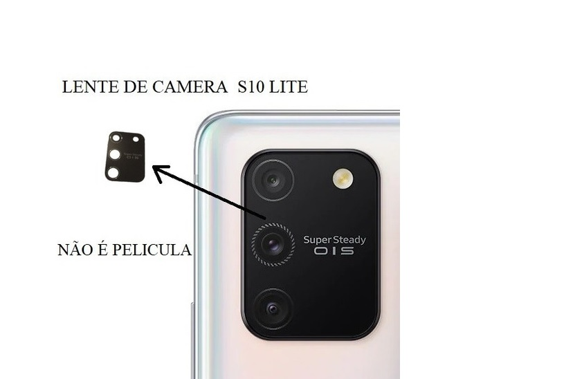Lente De Vidro Câmera Traseira Celular S10 Lite Original
