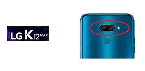 Lente Vidro Da Câmera Original LG K12 Max Lm X520 Com Moldura Original