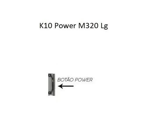 Tecla Plástica Botão Power Lg K10 Power Tv M320