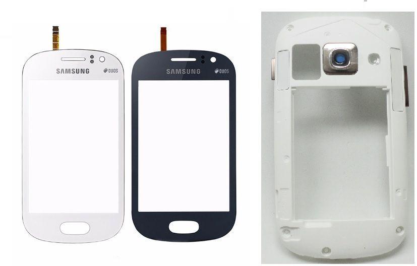 Vidro Touch Screen Samsung Gt i6810 i6812 Galaxy Fame + Aro Gabinete Lateral