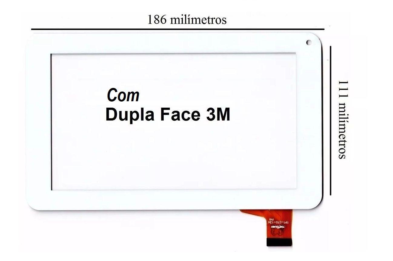 Vidro touch Screen Tablet Multilaser M7s Quad Core 7 Polegadas