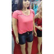 Blusa Feminina Plus Size Forma Grande Camiseta