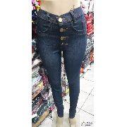 Calça Jeans Feminina Cintura Alta  Hotpants Ozup
