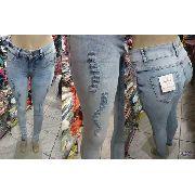 Calça Jeans Feminina Cintura Media Naraka