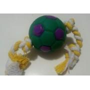 Brinquedo Para Cachorro Bola De Futebol Com Corda Pet