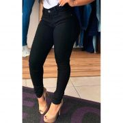 Calça Jeans Cintura Alta Feminina Lycra Hevox