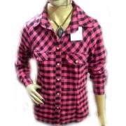Camisa feminina xadrez blusa algodão